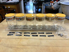 Vintage GEMCO Spice of Life Spice Shaker Set, Rack, Stickers, Hardware Unused