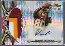 2015 Topps Finest Pulsar Refractor Jamison Crowder Auto 3 Color Patch Rc # 35/35
