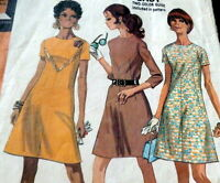 LOVELY VTG 1960s DRESS McCALLS Sewing Pattern BUST 37