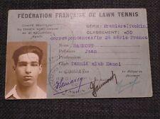 INDOCHINE Fédération Française de Lawn Tennis  carte TC Hanoi joueur -30 c1920