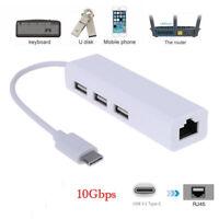 USB-C Câble adaptateur USB LAN type 3.1 à USB RJ45 Ethernet pour Macbook N_ft