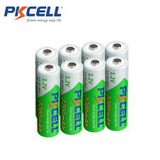 8 X PKCELL Low Self-discharge Durable Ni-MH 1.2V 2200mAh Battery AA Rechargeable