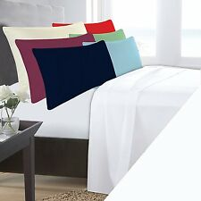 SINGLE BED WHITE PLATFORM BASE VALANCE SHEET POLYCOTTON 180 THREAD COUNT PERCALE
