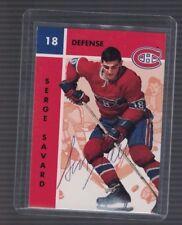 Serge Savard Montreal Canadiens 1995/96 Parkhurst Signed Card W/COA