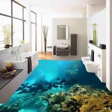 Water Black Fish 3D Floor Mural Photo Flooring Wallpaper Home Print Decoration