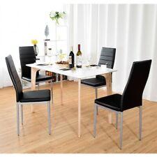 4 pcs PVC Leather Elegant Design Dining Side Chairs