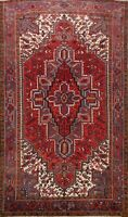 Vintage Geometric Traditional Area Rug Wool Hand-Knotted Oriental Carpet 8'x10'