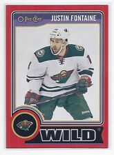 14-15 2014-15 O-PEE-CHEE JUSTIN FONTAINE RED PACK REDEMPTION 470 MINNESOTA WILD