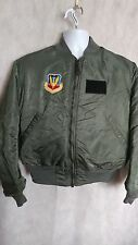 Vintage Alpha Ind. Flight Jacket w/Original Military Patches & Insignia Mens L