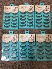 30 Pairs Long Cross False Eyelashes Makeup Natural Fake Thick Black USA
