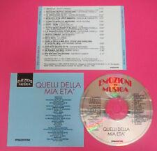CD Compilation Quelli Della Mia Eta'GIORGIO GABER LUCIO DALLA ORME no lp mc(C44