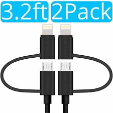 2x Skiva 2-in-1 Sync & Charge Cable with Lightning & microUSB for iPhone (CB152)