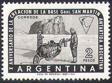 ARGENTINA 1961 esplorazione Antartico/CANI/Base/ESPLORATORI/trasporto 1 V (n26651)