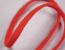2m 5mm red lacing braid shoe lace beads jewellery cord