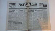 RARE THE MUSLIM, English Aug.2,986 Pakistan Islamic State,US VetoesUN,Rajiv,OPEC