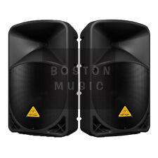 "Pair of Behringer B112d Active Powered PA 12"" Loud Speakers 2000-Watt Max Total"