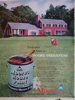 1959 Benjamin Moore Cottage Red Color House Paint Can Ad