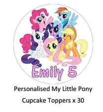 My LITTLE PONY personalizzata Cupcake Topper Wafer commestibile carta acquista 2 ottenere 1 GRATIS!