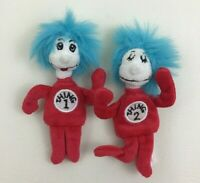 """Dr Seuss Thing 1 and Thing 2 Cat In The Hat 5"""" Plush Stuffed Manhattan Toy 2002"""