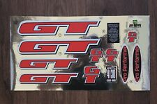 Reproduction 1997 GT Pro Performer BMX Decal Set - Chrome Backing