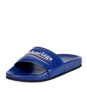 Balenciaga Blue Pool Slides 38