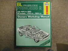 HAYNES MANUAL 452 BL Princess 2 July 1978 - 1982 All Models 1700cc, 1994cc