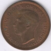 1944 George VI Halfpenny | British Coins | Pennies2Pounds