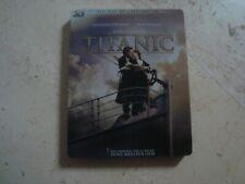 TITANIC *rare* 4 Disc Blu-Ray 3D SteelBook Leonardo DiCaprio Kate Winslet