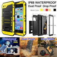 Rugged IP68 Waterproof Metal High Impact Case Shell Tempered Glass For iPhone