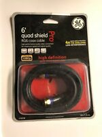 GE 6' Coaxial Cable HD 1080p, Free Shipping