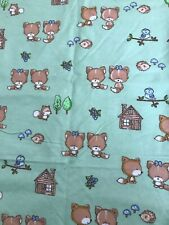 Cotton Flannel Pieces, 4 1/2 Yards Total