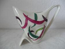 Sehr dekorative Porzellan Vase von Alka 50er Jahre tolle Form handgemalt (A331)