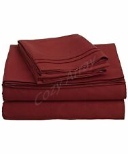 DEEP POCKET 1600 THREAD COUNT SERIES 4 PIECE BED SUPER SOFT SHEET SET ALL SIZES