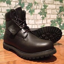 Women's Timberland Classic 6-inch Premium Boot Black Smooth 8161B Size 8.5M