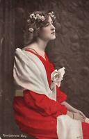 1908 VINTAGE GLAMOUROUS MISS GABRIELLE RAY POSTCARD sent to Dumbarton
