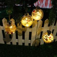 LED Ball Light Christmas Tree Hanging Ornaments Holiday Garden Yard Decorations