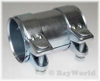 1x BayWorld Auspuff Universal Rohrverbinder 76x80,5x125mm Doppelschelle 76x125mm