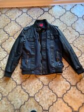 Black with Jean Mens Jacket Gold accents China XL US L