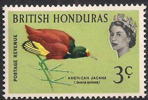 BRITISH HONDURAS 1962 SG204 3c. NORTHERN JACANA  -  MNH