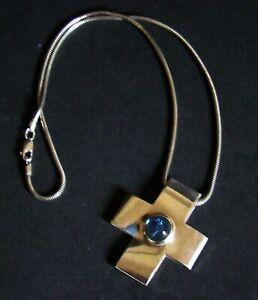 JOOP! Kreuz Anhänger & Halskette Unisex Silber 925 FvS mit Logo gemarkt TOP RARE