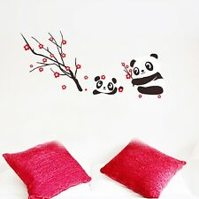 Decor Removable Decals Vinyl DIY Mural PVC Wall Sticker Cute Panda And Tree Home