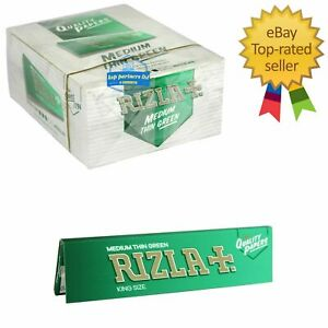5 10 50 Rizla GREEN  King Size Slim Medium Thin Cigarette Rolling Paper NEW PACK