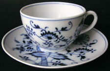 Vintage Signed Meissen Germany Blue & White ONION Pattern Teacup Cup & Saucer