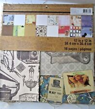 Recollections Mixed Media Collage Pad NEW FREE SHIP Crafts 12 X 12 pages