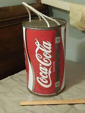 """Coca-Cola~Coke [Round Split Portable Cooler w/ Snap Lock] ECHO """"Dynamic Ribbon"""""""