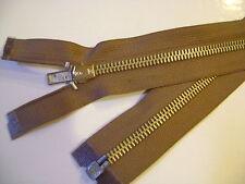 fermeture éclair séparable métal 6 mm col. kaki clair L.80 cm N°12 E S.étiquette