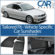 BMW 3 Series 2dr 98-05 UV CAR SHADES WINDOW SUN BLINDS PRIVACY GLASS TINT BLACK