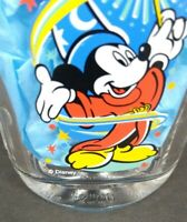 Walt Disney Mickey Mouse Wizard 2000 World Epcot Square Glass McDonalds