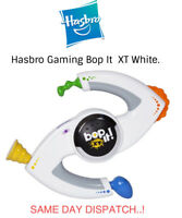 Bop It! XT Electronic Handheld Toy 2010 Hasbro White Aux Port Tested & Working
