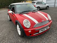 MINI COOPER R50 1.6i IN CHILI RED WITH HEATED HALF LEATHER HISTORY MOT 110k